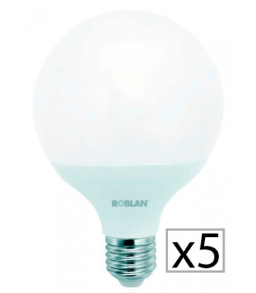 Pack 5 LED GLOBE G120 18W by Roblan