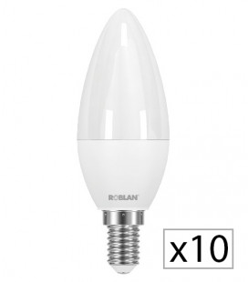 Pack 10 LED CANDLE SKY C30 6W by Roblan