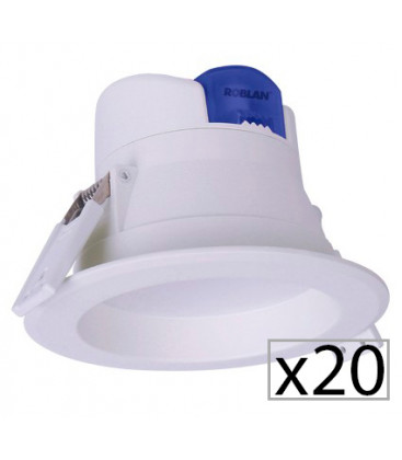 Pack 20 downlight LED ALL IN 7-25 W by Roblan