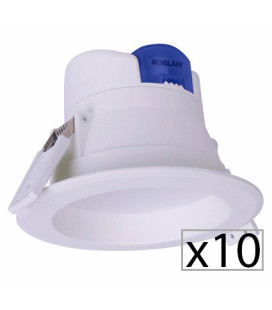 Pack 10 downlight LED ALL IN 7-25 W de Roblan