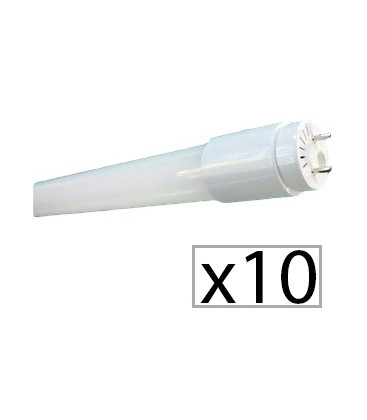 Pack 10 LED tube CRISTAL 60cm 9W de Roblan