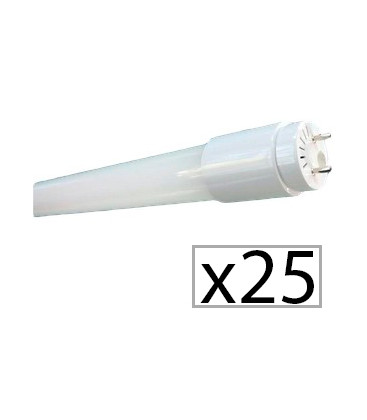 Pack de 25 tubo LED CRISTAL 60cm 9W de Roblan