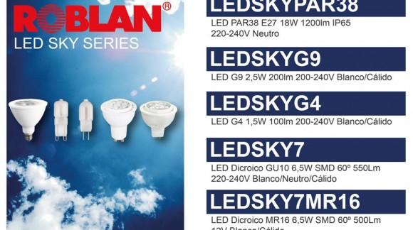 Nueva gama de lámparas LED de Roblán